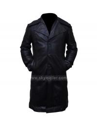 Carlito's Way Al Pacino Black Leather Biker Trench Coat