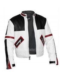 Chaser Box Black & White Biker Style Leather Jacket