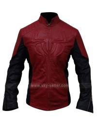The Amazing Spider-Man Red & Black Biker Leather Jacket
