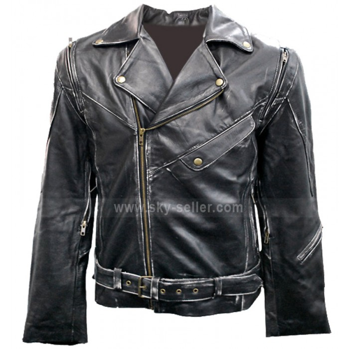Terminator 2 Black Motorcycle Leather Jacket