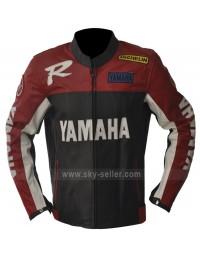 Yamaha R Series Red & Black Biker Leather Jacket