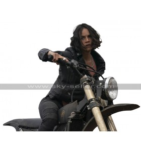 Letty Ortez Fast and Furious 9 2020 F9 Michelle Rodriguez Biker Black Leather Jacket