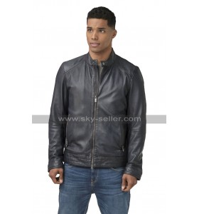 Rome Flynn A Christmas Duet Black Biker Leather Jacket