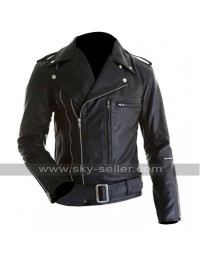 Arnold Schwarzenegger Terminator 2 Motorcycle Leather Jacket