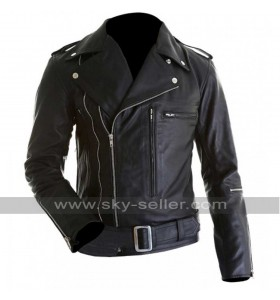 Arnold Schwarzenegger Terminator 2 Motorcycle Leather Jacket