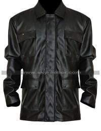 Bryan Mills Taken 3 Liam Neeson Biker Black Leather Jacket