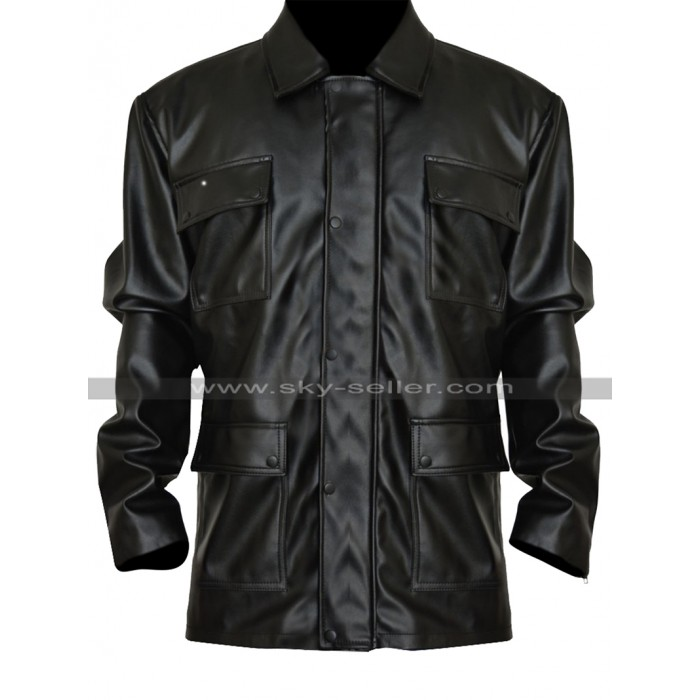 Bryan Mills Taken 3 Liam Neeson Biker Black Leather Jacket