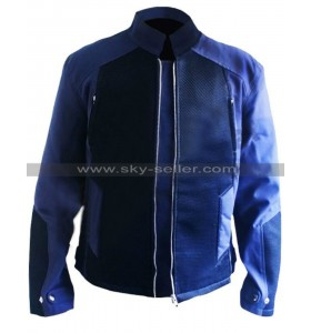 Captain America Chris Evans Winter Soldier Blue Denim Jacket