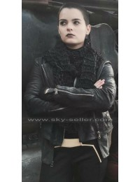 Brianna Hildebrand Deadpool Ellie Phimister Black Leather Jacket