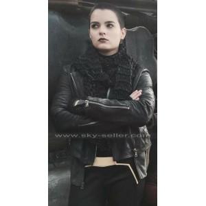 Brianna Hildebrand Deadpool Ellie Phimister Black Leather Jacket