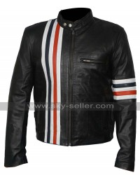 Easy Rider Multi Stripes Peter Fonda (Wyatt) Biker Jacket