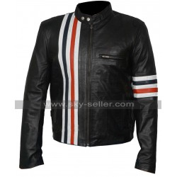 Easy Rider Multi Stripes Peter Fonda (Wyatt) Biker Jacket