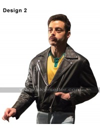 Rami Malek Bohemian Rhapsody Freddie Mercury Brando Biker Black Leather Jacket