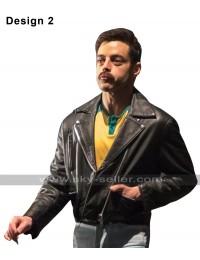 Rami Malek Bohemian Rhapsody Freddie Mercury Brando Biker Black Leather Jacket