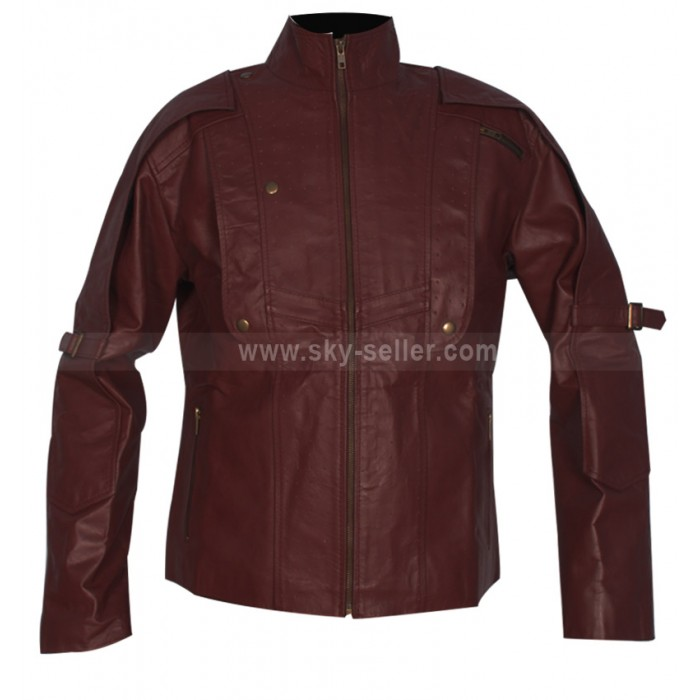 Guardians of the Galaxy Starlord Avengers (Chris Pratt) Biker Jacket