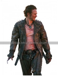 James Franco Future World Warlord Studded Black Motorcycle Leather Jacket
