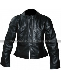 Kill Bill V2 Uma Thurman Black Leather Jacket