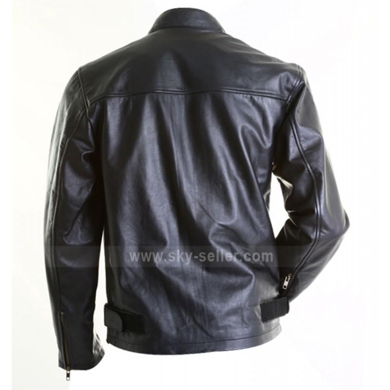 320b5c1c7 Steve McQueen Gulf Le Mans Biker Style Leather Jacket