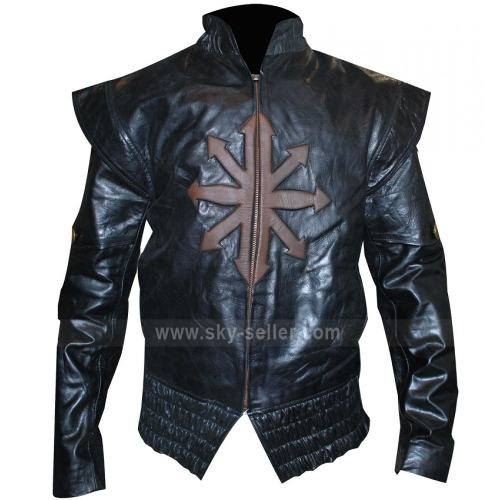 Logan Lerman Cross Black Unisex Motorcycle Jacket