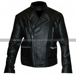 Marlon Brando Perfecto Black Motorcycle Leather Jacket