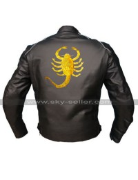 Drive Scorpion Ryan Gosling Driver Black Rider Costume Biker Leather Jacket