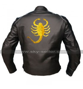 Drive Scorpion Ryan Gosling Driver Black Rider Costume Biker Leather Jacket