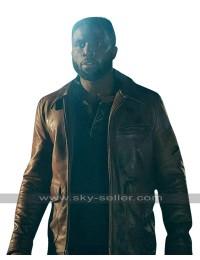 The First Purge Y'lan Noel (Dmitri) Biker Brown Leather Jacket