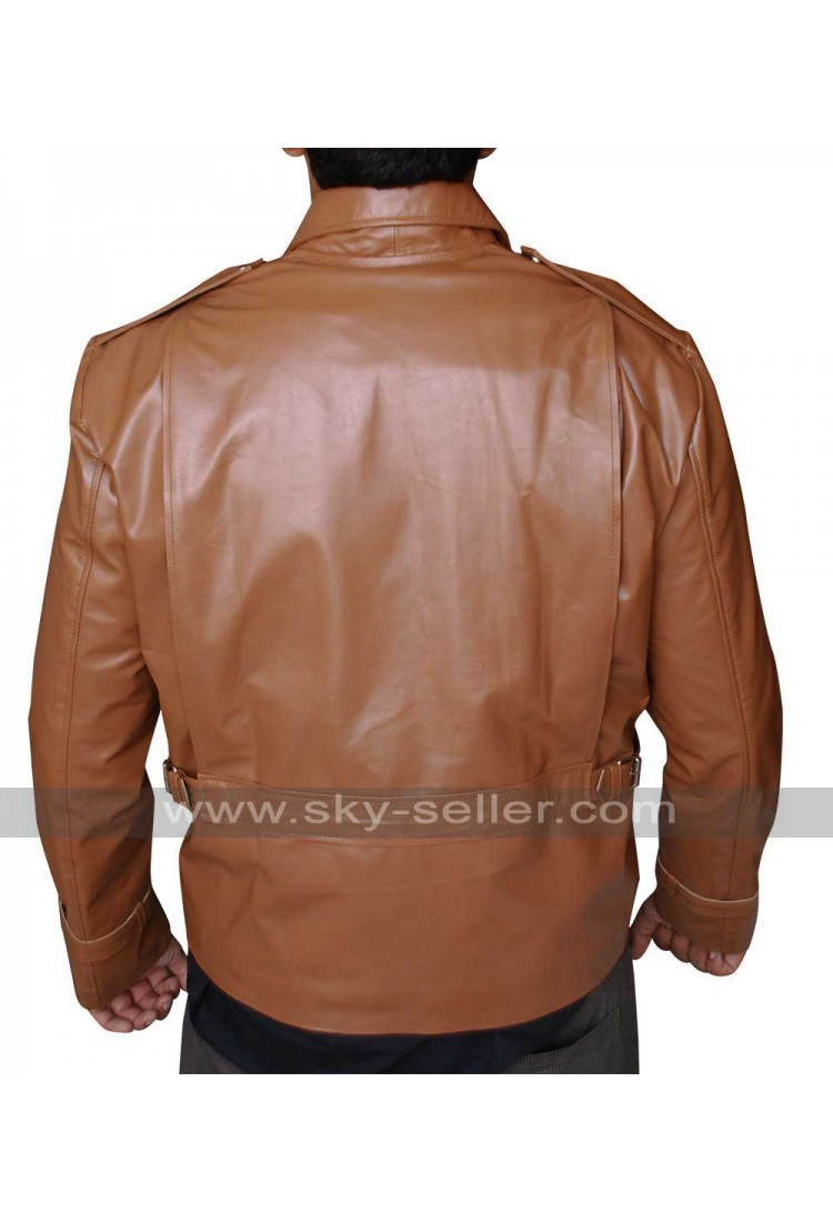 The Rocketeer Brown Motorcycle Leather Jacket For Sale