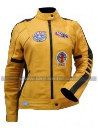 Uma Thurman Kill Bill The Bride Yellow Motorcycle Jacket For Mens / Womens