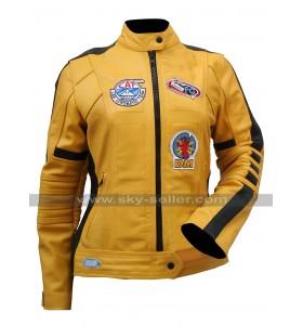 Uma Thurman Kill Bill Yellow Motorcycle Jacket
