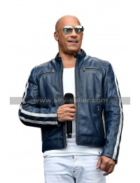 Fast and Furious 2020 The Road to F9 Concert Vin Diesel FF9 Blue Leather Jacket