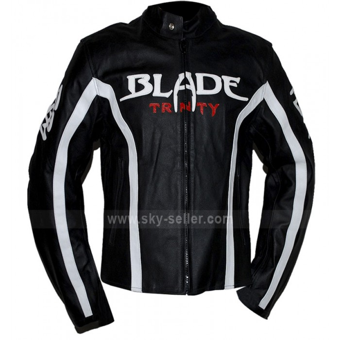 Blade (Wesley Snipes) Trinity Biker Leather Jacket