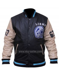 Beverly Hills Cop Axel Foley Detroit Lions Letterman Biker Jacket