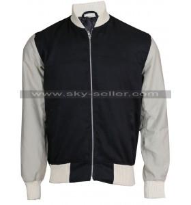 Baby Driver Ansel Elgort Varsity Bomber Jacket
