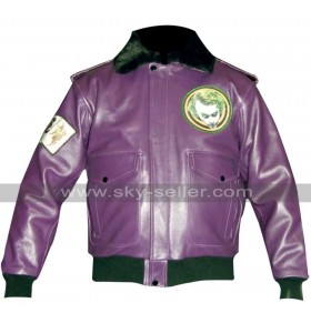 Batman Joker Goons Bomber Fur Leather Jacket