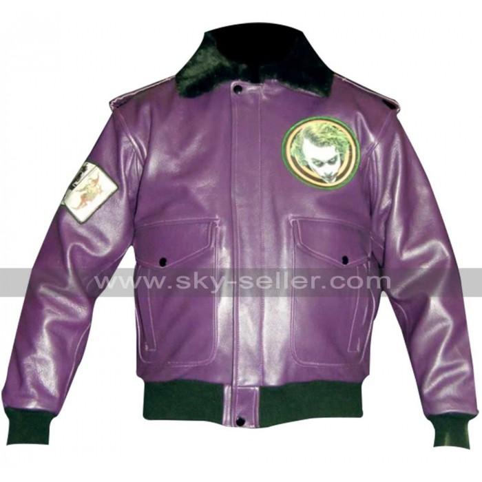 Batman Joker Goons Bomber Fur Leather Jacket