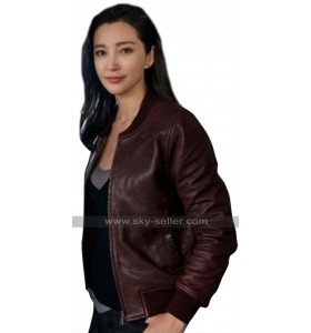 The Meg Bingbing Li (Suyin) Bomber Brown Leather Jacket