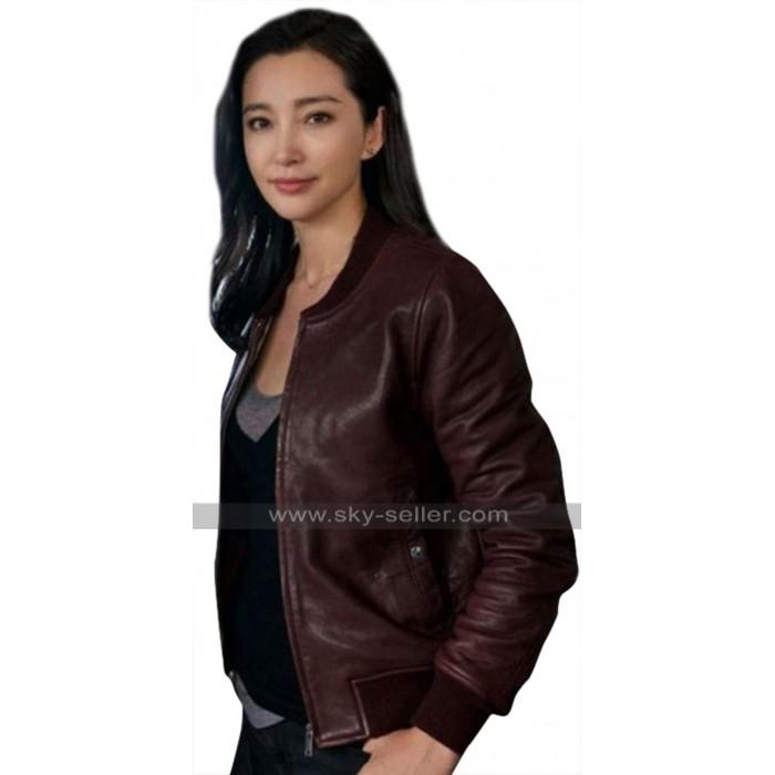 The Meg Bingbing Li (Suyin) Bomber Brown Leather Jacket