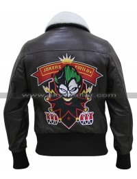 Bombshell Harley Quinn Bomber Fur Leather Jacket