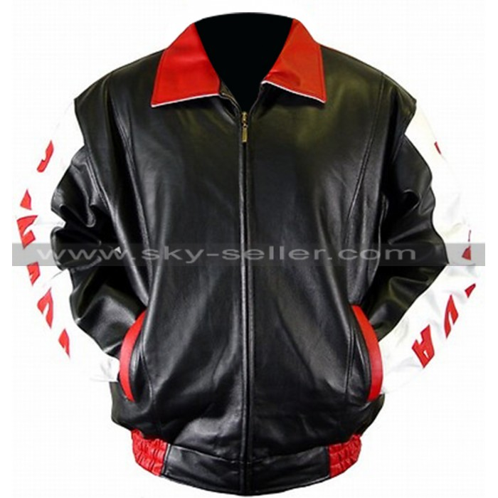 Men's Canadian Flag Bomber Leather Jacket