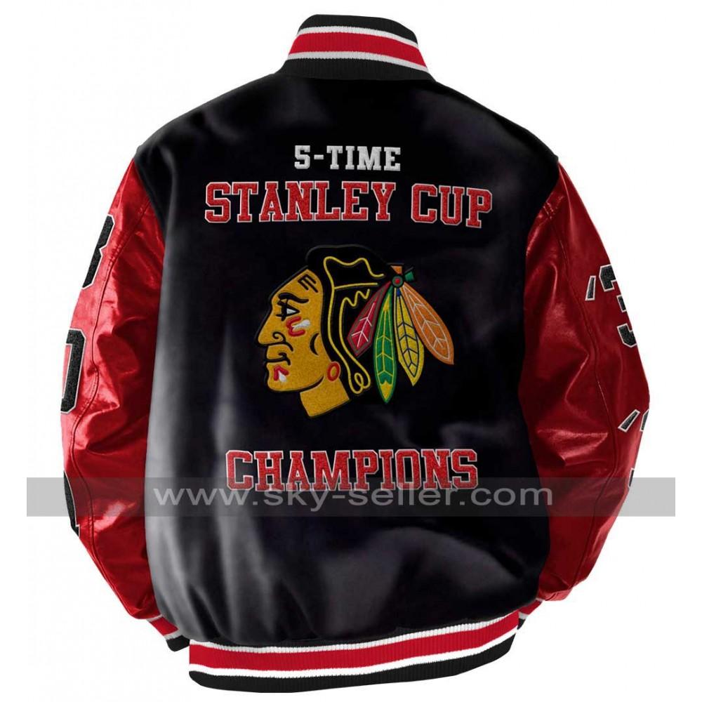 Blackhawks leather jacket