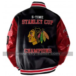 Stanley Champions Blackhawks Chicago Leather Jacket