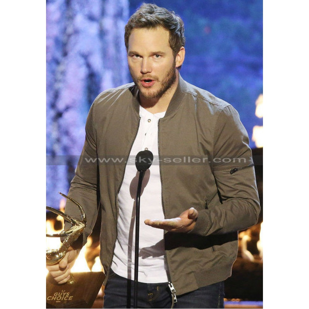 Chris Pratt Spike TV Guys Choice Casual Bomber Jacket