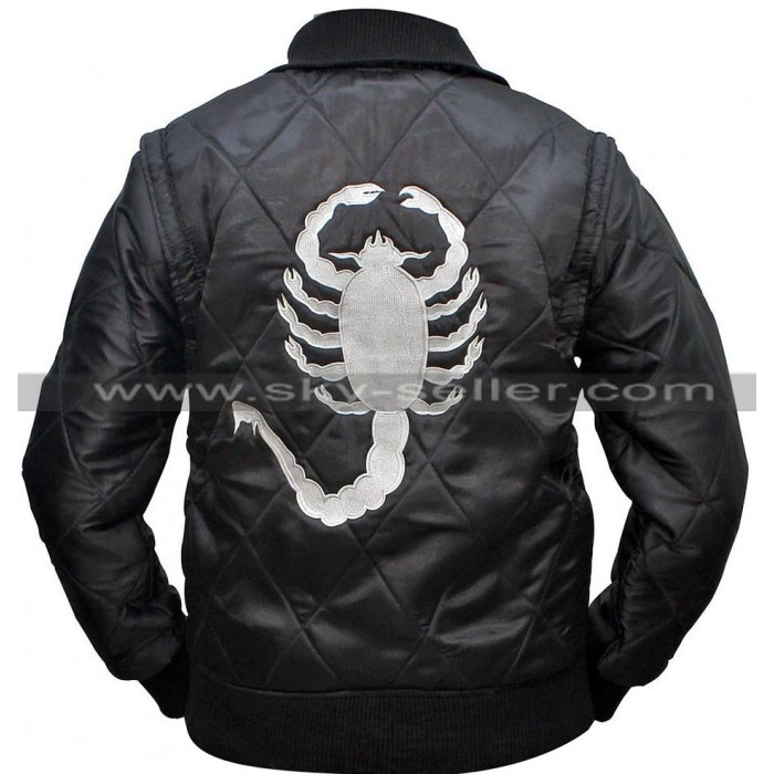 Drive Ryan Gosling Scorpion Satin Bomber Jacket