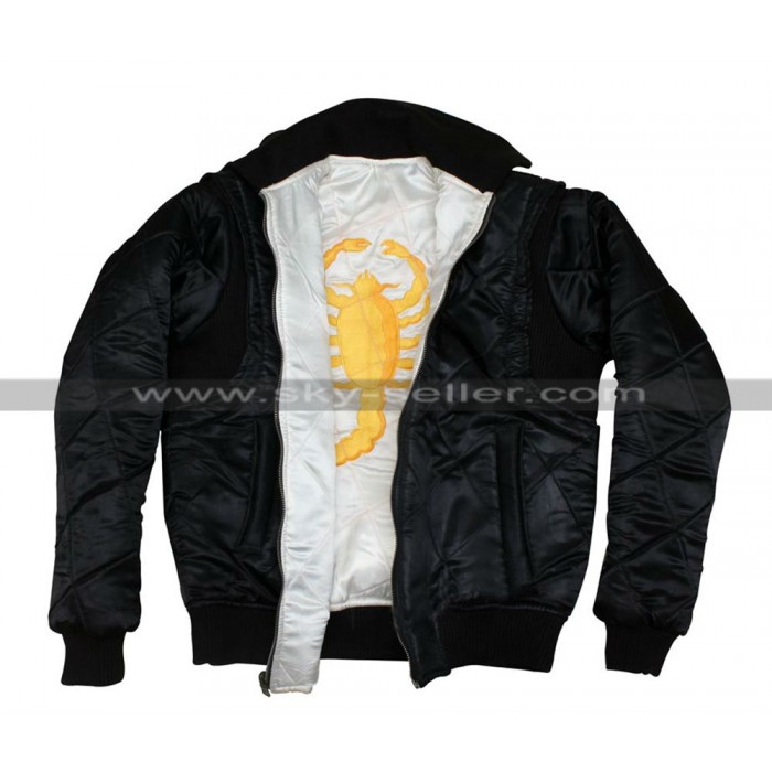Drive Scorpion Reversible Ryan Gosling Bomber Jacket