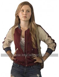 Amma Crellin Sharp Objects Eliza Scanlen Bomber Satin Jacket