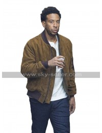 F9 2020 Fast & Furious 9 Ludacris Bomber Brown Suede Leather Jacket