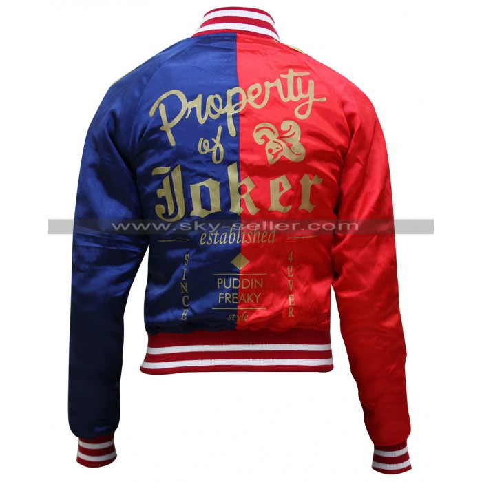 Harley Quinn Property of Joker Bomber Jacket