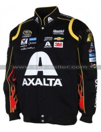 Jeff Gordon Axalta Black Racing Leather jacket
