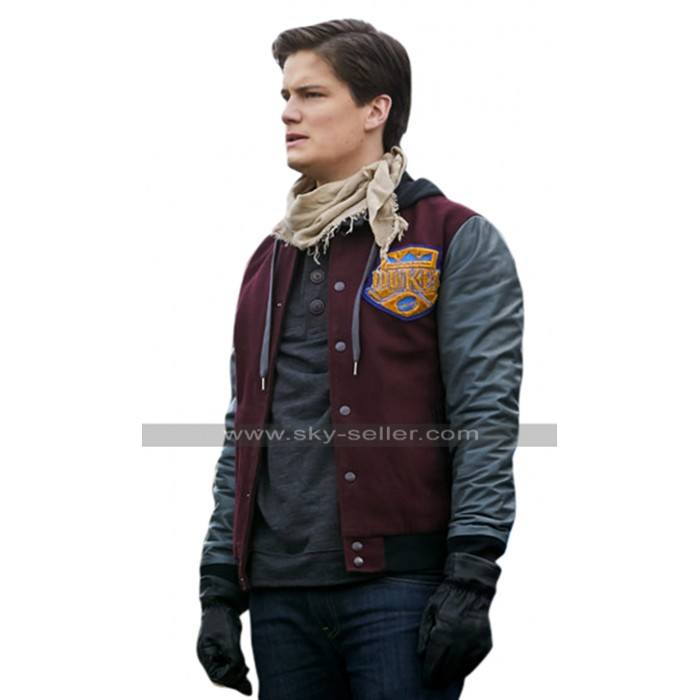 Between TV Series Justin Kelly (Chuck) Bomber Varsity Hoodie Jacket